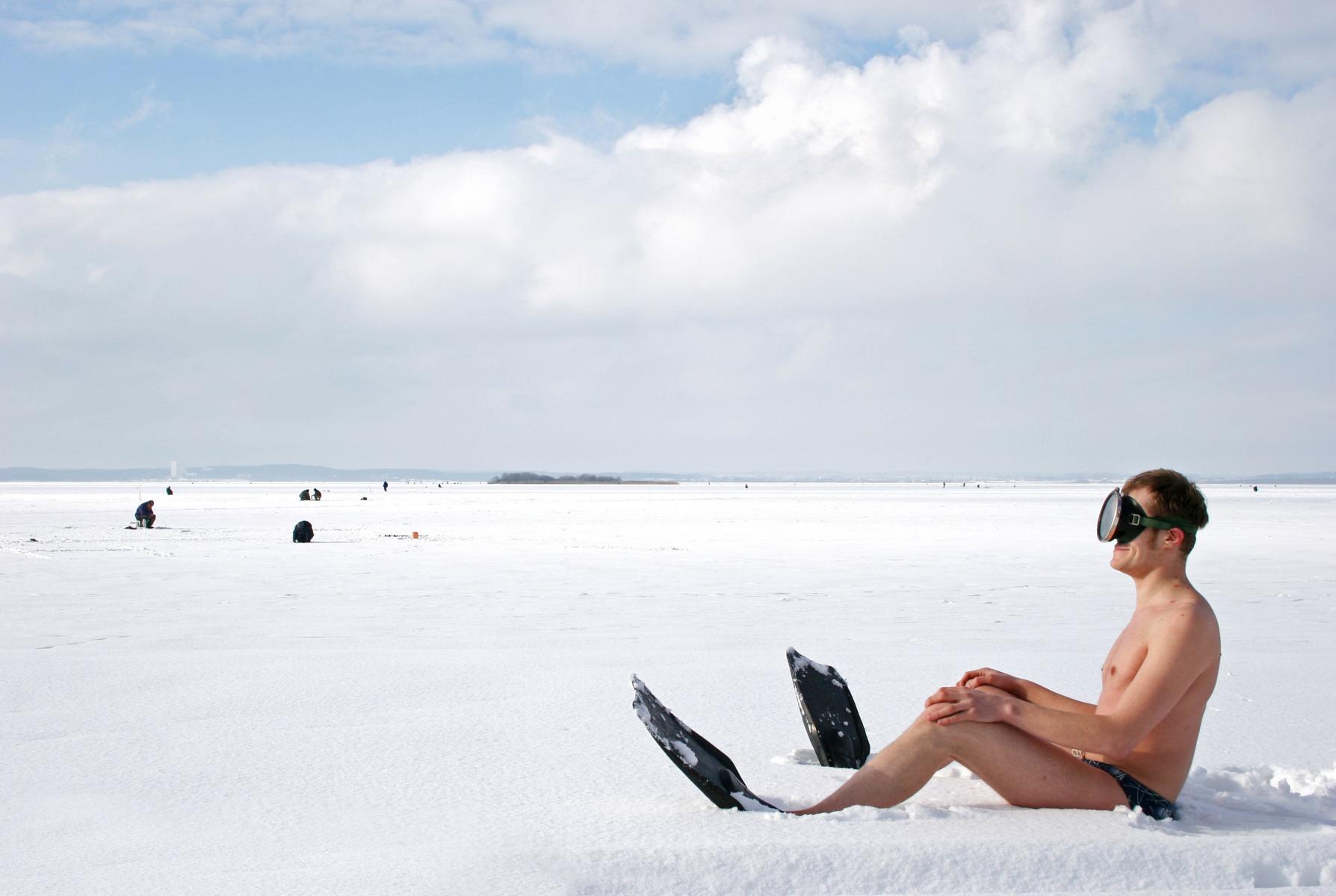 весны зимой в ластах прикол фото пяти