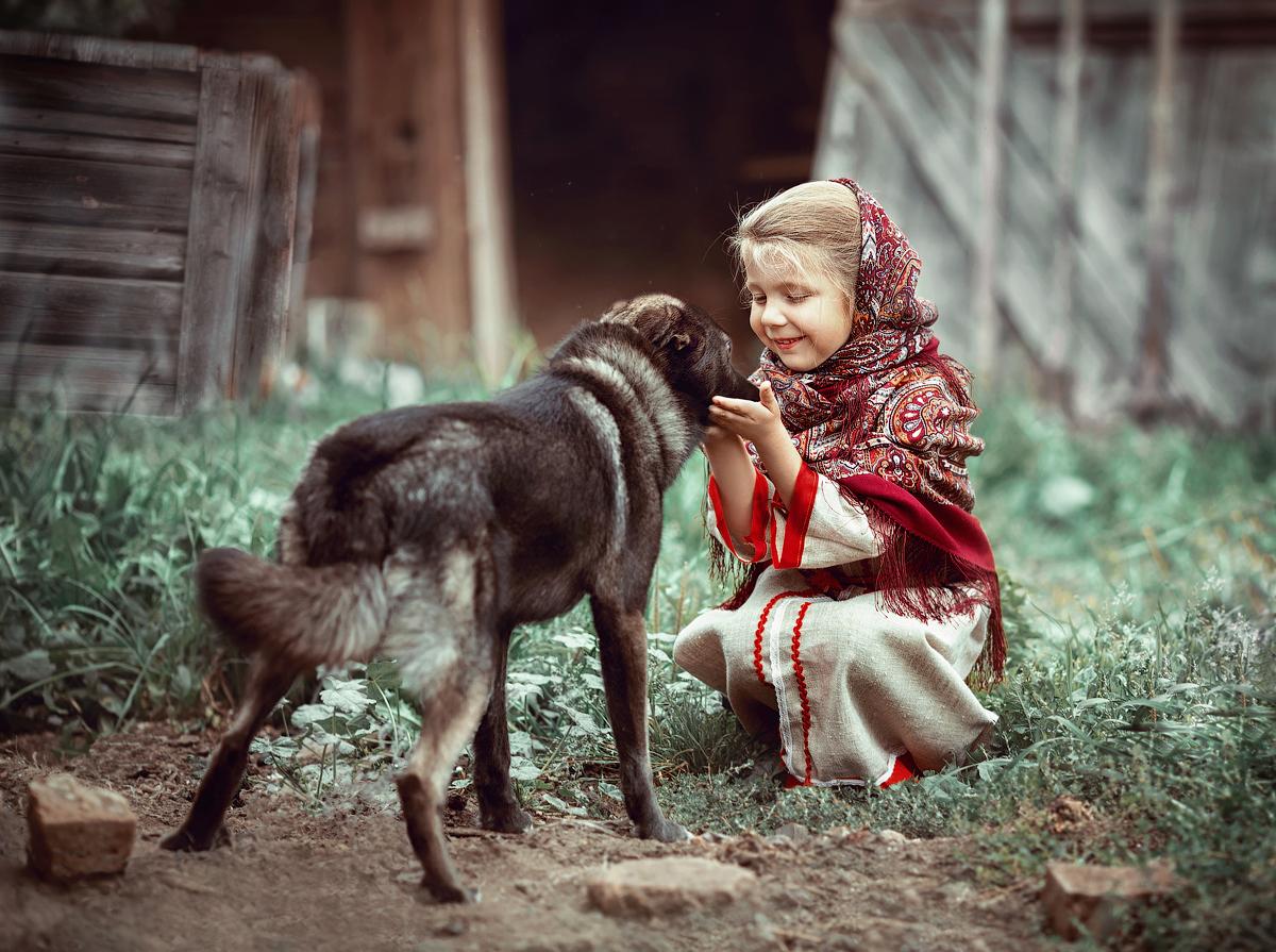 Картинка сельские дети