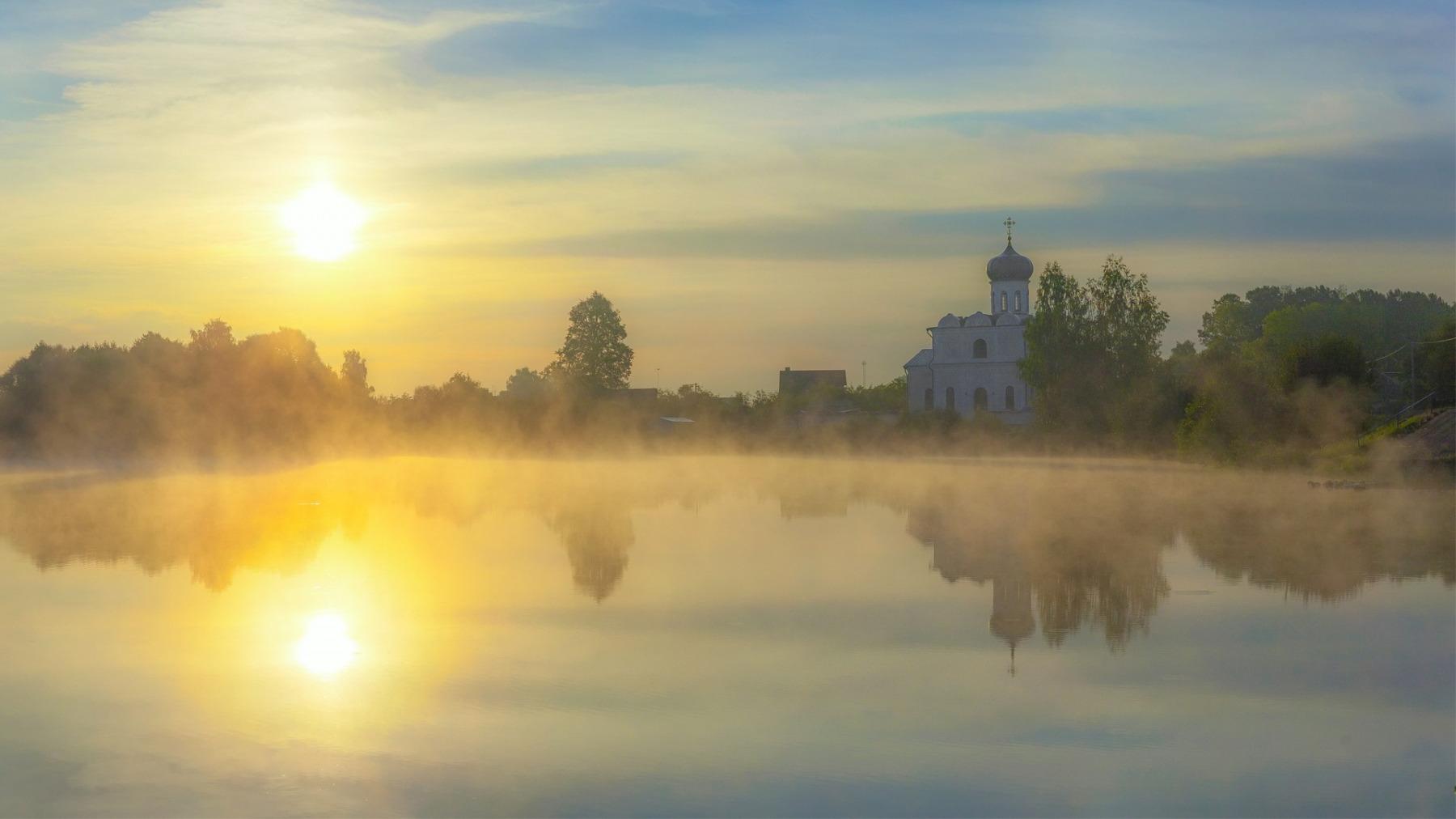 утренний рассвет часовни фото азотонаполненный корпус, выдвижную
