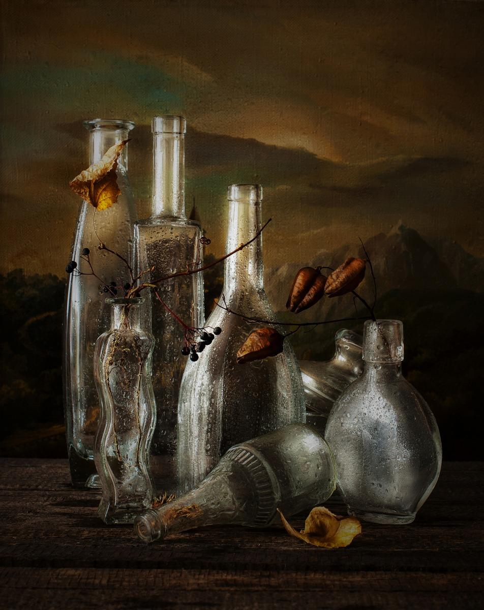 Натюрморты с бутылками фото