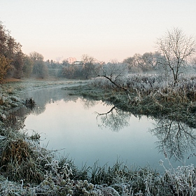 "фотограф Николай Никитин. Фотография ""Cold morning in the city park"""