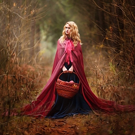 "фотограф Максим Прокопович. Фотография ""Little Red Ridinghood"""