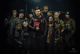 "D. Glukhovsky and the characters ""Metro 2033"" 