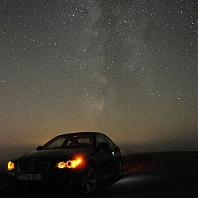 "фотограф Харланов Никита. Фотография ""BMW на фоне Milky Way"""